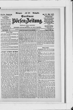 Berliner Börsen-Zeitung vom 18.05.1907