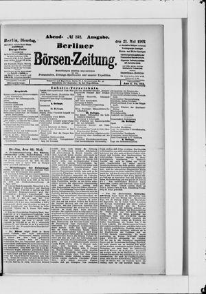 Berliner Börsen-Zeitung vom 21.05.1907