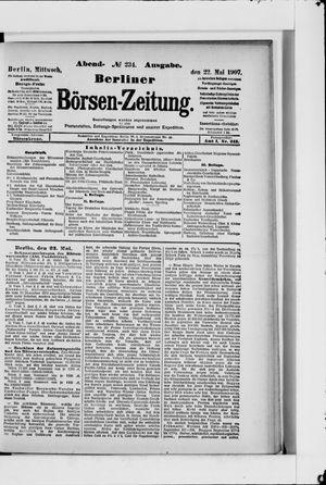 Berliner Börsen-Zeitung vom 22.05.1907