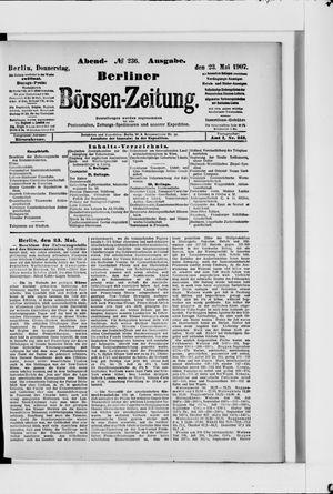 Berliner Börsen-Zeitung on May 23, 1907