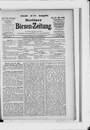 Berliner Börsen-Zeitung vom 24.05.1907