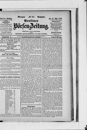 Berliner Börsen-Zeitung on May 26, 1907