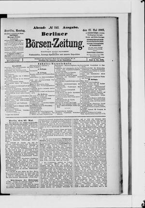 Berliner Börsen-Zeitung vom 27.05.1907