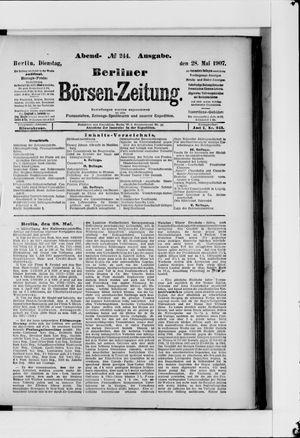 Berliner Börsen-Zeitung on May 28, 1907