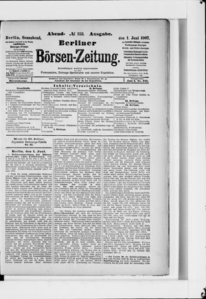 Berliner Börsen-Zeitung vom 01.06.1907