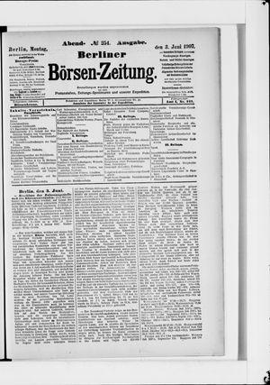 Berliner Börsen-Zeitung on Jun 3, 1907