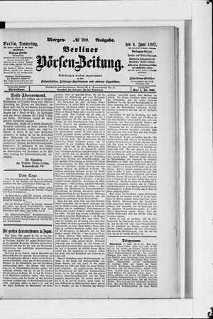 Berliner Börsen-Zeitung vom 06.06.1907