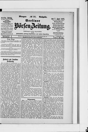Berliner Börsen-Zeitung vom 07.06.1907
