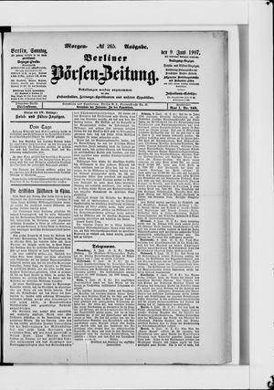 Berliner Börsen-Zeitung vom 09.06.1907