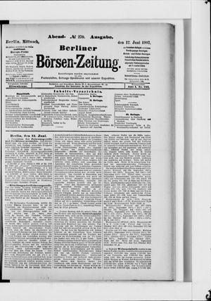 Berliner Börsen-Zeitung vom 12.06.1907