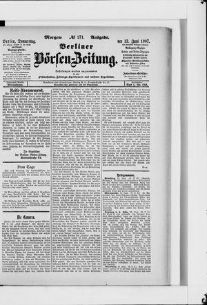 Berliner Börsen-Zeitung vom 13.06.1907