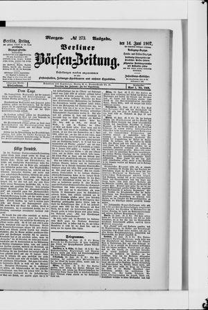 Berliner Börsen-Zeitung vom 14.06.1907