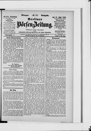 Berliner Börsen-Zeitung vom 15.06.1907
