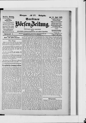 Berliner Börsen-Zeitung vom 16.06.1907