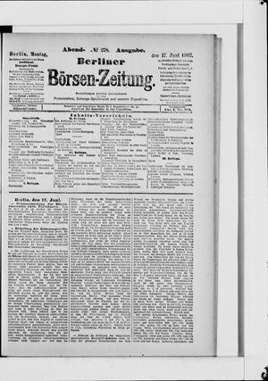 Berliner Börsen-Zeitung vom 17.06.1907