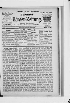 Berliner Börsen-Zeitung vom 18.06.1907