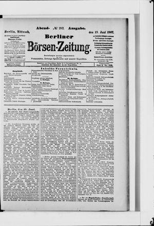 Berliner Börsen-Zeitung vom 19.06.1907