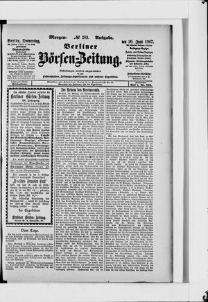 Berliner Börsen-Zeitung vom 20.06.1907