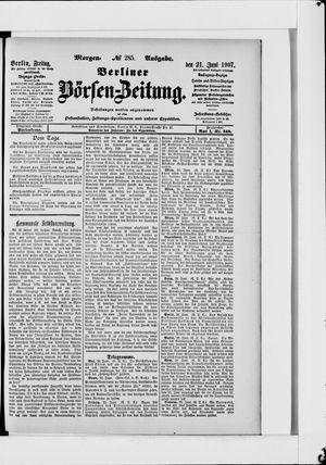 Berliner Börsen-Zeitung vom 21.06.1907