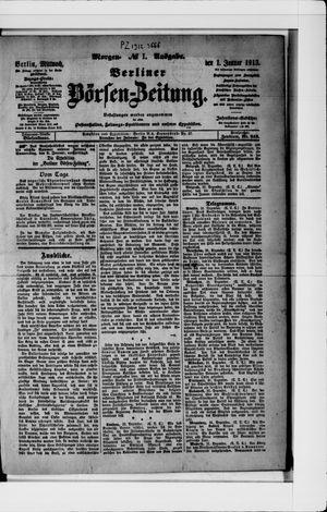 Berliner Börsen-Zeitung vom 01.01.1913