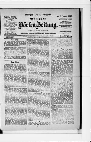 Berliner Börsen-Zeitung vom 03.01.1913