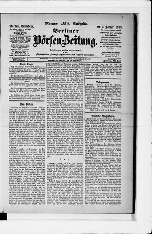 Berliner Börsen-Zeitung vom 04.01.1913