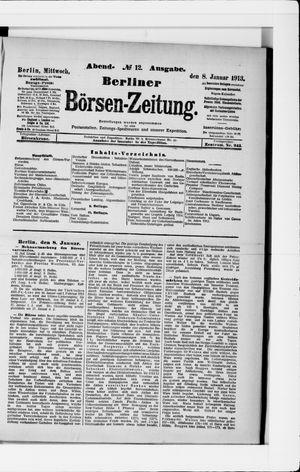 Berliner Börsen-Zeitung vom 08.01.1913
