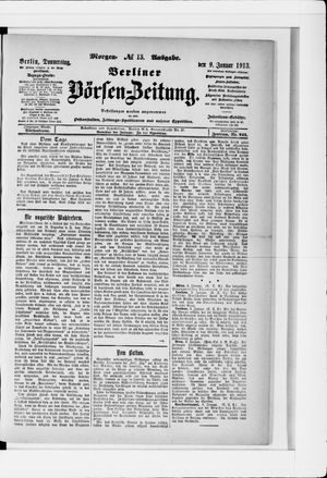 Berliner Börsen-Zeitung vom 09.01.1913