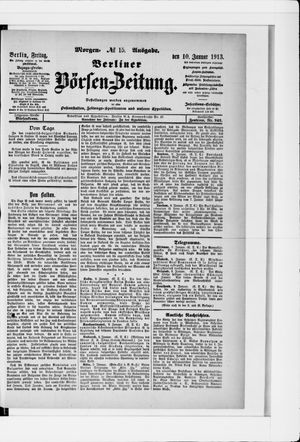 Berliner Börsen-Zeitung vom 10.01.1913