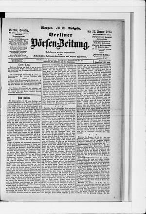 Berliner Börsen-Zeitung vom 12.01.1913