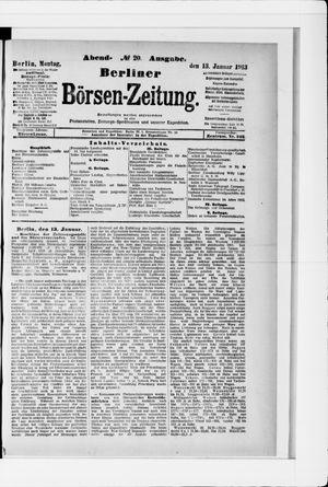 Berliner Börsen-Zeitung vom 13.01.1913