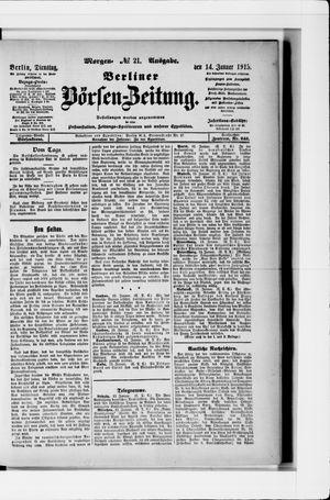 Berliner Börsen-Zeitung vom 14.01.1913