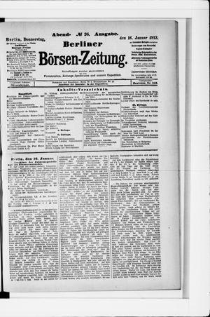 Berliner Börsen-Zeitung on Jan 16, 1913