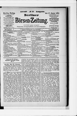 Berliner Börsen-Zeitung vom 17.01.1913