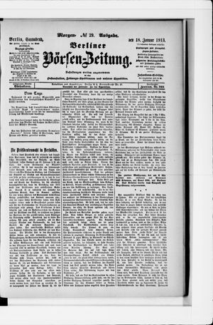 Berliner Börsen-Zeitung vom 18.01.1913