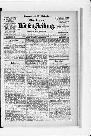 Berliner Börsen-Zeitung vom 19.01.1913