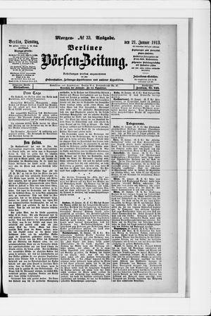 Berliner Börsen-Zeitung vom 21.01.1913