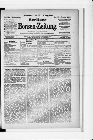 Berliner Börsen-Zeitung vom 23.01.1913
