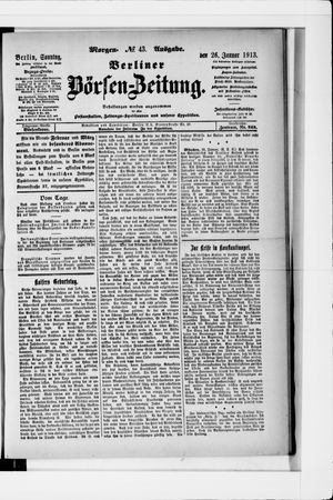 Berliner Börsen-Zeitung vom 26.01.1913