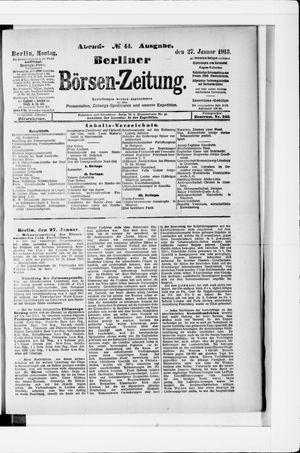 Berliner Börsen-Zeitung vom 27.01.1913