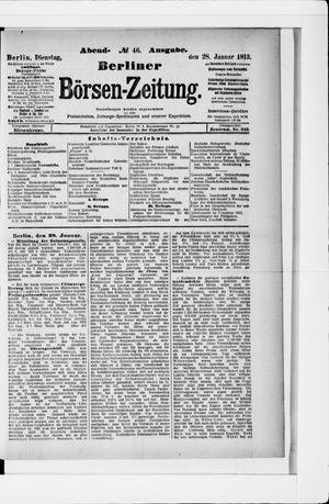 Berliner Börsen-Zeitung vom 28.01.1913
