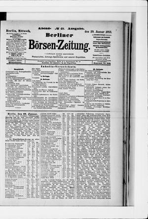 Berliner Börsen-Zeitung vom 29.01.1913