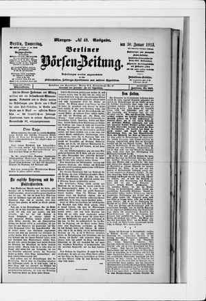 Berliner Börsen-Zeitung vom 30.01.1913