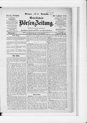 Berliner Börsen-Zeitung vom 01.02.1913
