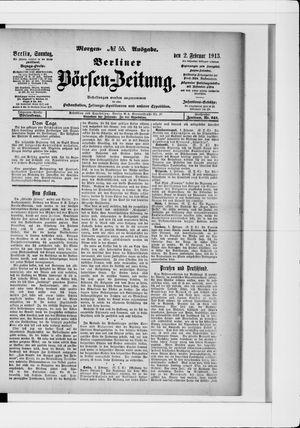 Berliner Börsen-Zeitung vom 02.02.1913