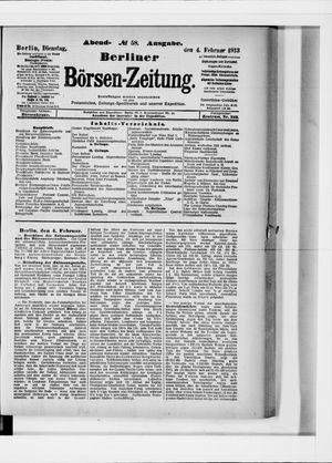 Berliner Börsen-Zeitung on Feb 4, 1913