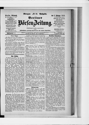 Berliner Börsen-Zeitung vom 05.02.1913