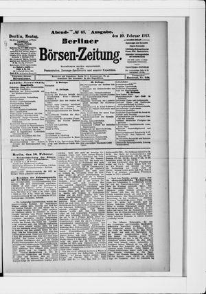 Berliner Börsen-Zeitung vom 10.02.1913