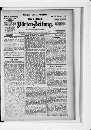 Berliner Börsen-Zeitung vom 13.02.1913
