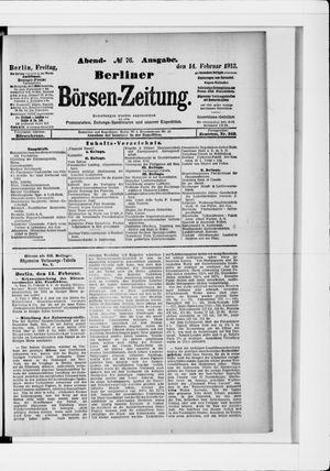 Berliner Börsen-Zeitung vom 14.02.1913